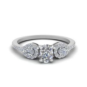 0.75 ct. cushion diamond petite 3 stone engagement ring in FDENS3109CUR NL WG.jpg