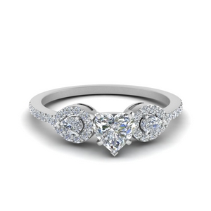 Floating 3 Stone Ring 0.75 Ct.