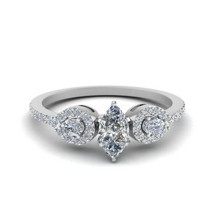 0.75 Ctw. Petite Marquise Shaped Ring