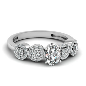 1 Ct. Diamond Halo Accent Ring