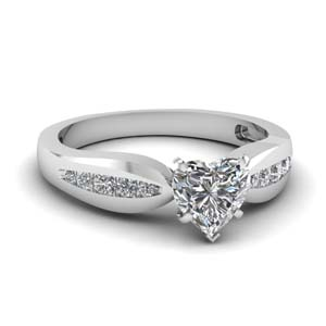 Bow 1 Ct Engagement Ring