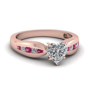 Bow Channel Ring With Pink Sapphire