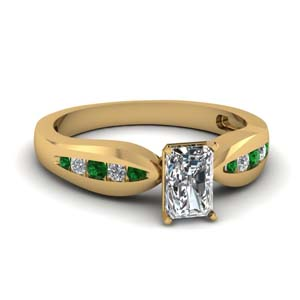 Radiant Cut Emerald Ring