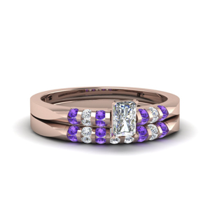 Delicate Purple Topaz Bridal Set