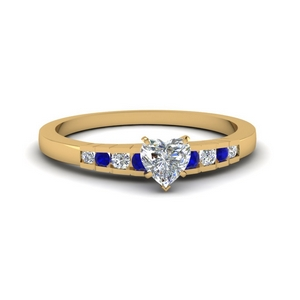 Graduated Accent Ring With Sapphire
