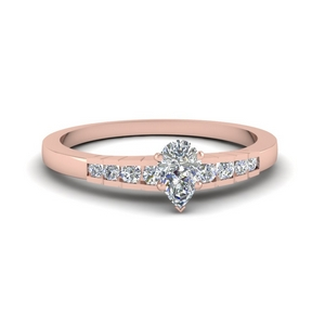 Graduated Pear Diamond Ring
