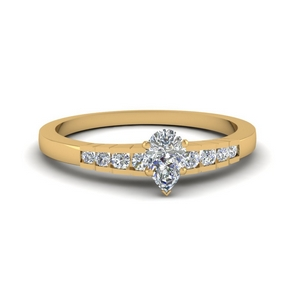 Accent Pear Diamond Ring