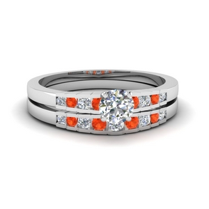 Accent Round Diamond Bridal Set