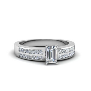 Emerald Cut Man Made Diamond Ring