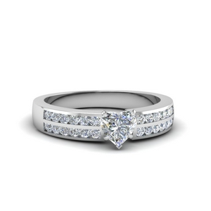 Two Row Channel Diamond Ring