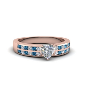 Heart Shaped Double Row Ring