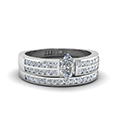 Two Row Channel Diamond Bridal Set