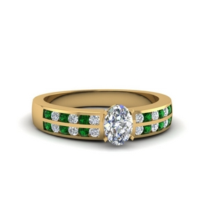 2 Row Emerald Ring
