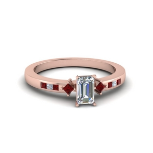 Channel Set Accent Diamond Ring