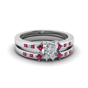 Accent Diamond Wedding Set