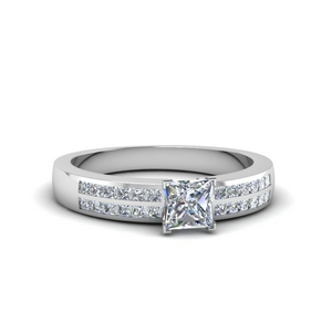 Channel Moissanite Engagement Ring