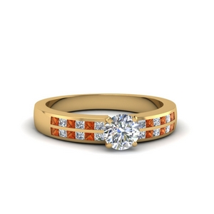 Petite Round Diamond Wide Ring