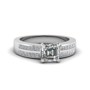 2 Row Engagement Ring
