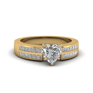 Channel Diamond 2 Row Ring