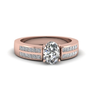 Rose Gold Side Stone Ring