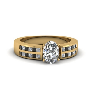 Channel Black Diamond Ring