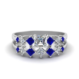 Wedding Set With Sapphire