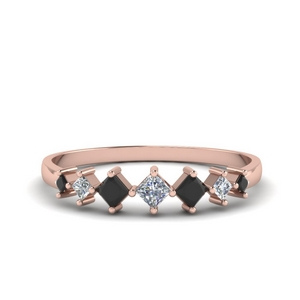 Black Diamond Thin Wedding Band