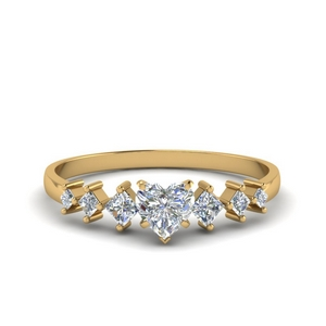 Kite Set Heart Diamond Ring