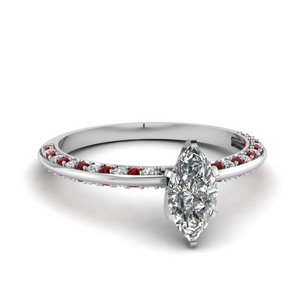 Marquise Knife Edge Ruby Ring