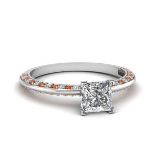 Delicate Knife Edge Diamond Ring