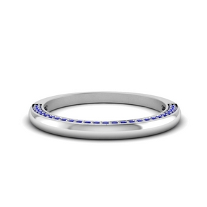Sapphire Pave Band