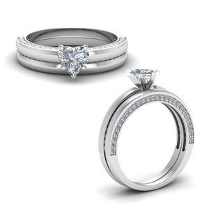 Classic Side Stone Bridal Set