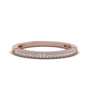 3 Side Pave Diamond Band
