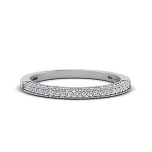 Pave Vintage Diamond Wedding Band