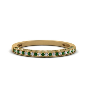 Emerald Pave Diamond Band