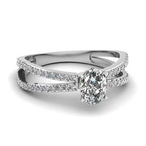 Lab Created Split Band Diamond Ring