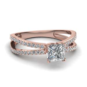 Reverse Split Diamond Ring