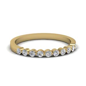 Delicate Floating Diamond Band