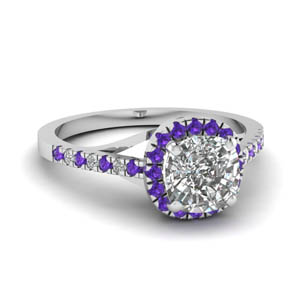 French Pave Engagement Ring