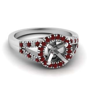 Platinum Ruby Ring Setting