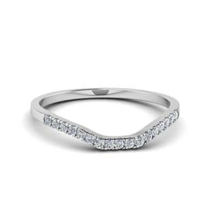 U Prong Curved Diamond Band