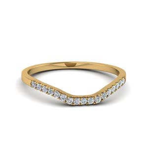 French Prong Contour Diamond Band