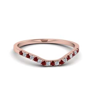 Beautiful Ruby Curved Band