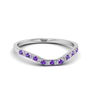 Platinum Purple Topaz Band