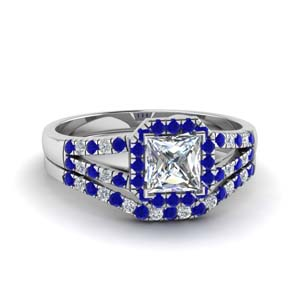 Beautiful Sapphire Wedding Set