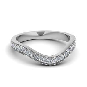 Milgrain Contour Pave Diamond Band