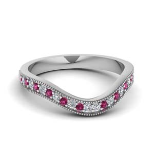 Pink Sapphire Pave Band