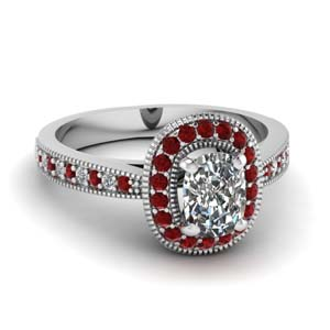 Ruby Accent Antique Ring