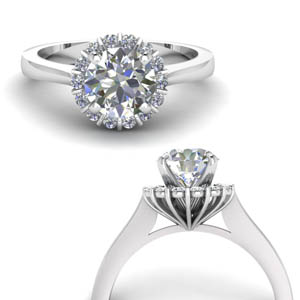 Platinum 0.50 Ct. Round Diamond Ring