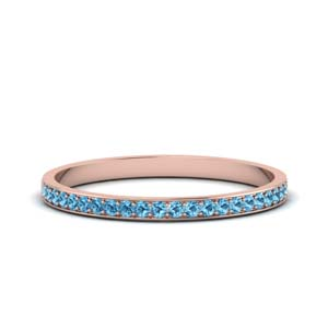 Thin Pave Set Topaz Wedding Band